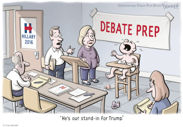 Clay Bennett  Clay Bennett's Editorial Cartoons 2016-09-01 presidential election