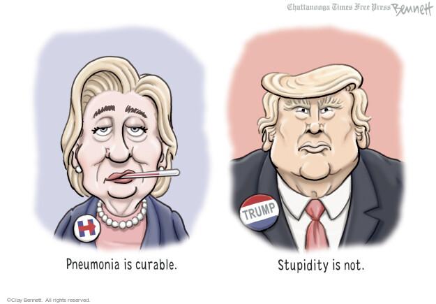 Clay Bennett  Clay Bennett's Editorial Cartoons 2016-09-13 pneumonia