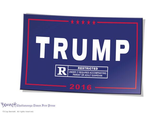 Clay Bennett  Clay Bennett's Editorial Cartoons 2016-10-17 presidential election