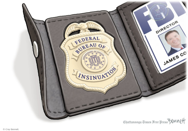 Cartoonist Clay Bennett  Clay Bennett's Editorial Cartoons 2016-11-01 FBI Director