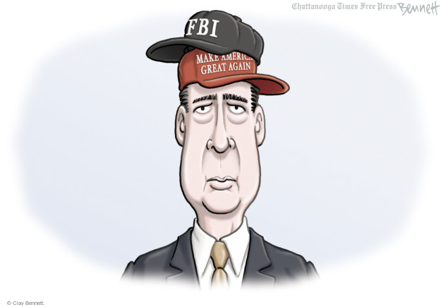 Cartoonist Clay Bennett  Clay Bennett's Editorial Cartoons 2016-11-02 FBI Director