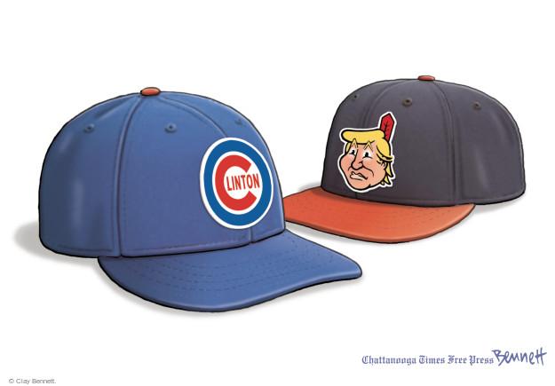 Cartoonist Clay Bennett  Clay Bennett's Editorial Cartoons 2016-11-04 Chicago Cubs
