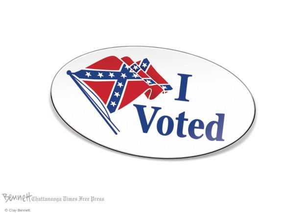 Cartoonist Clay Bennett  Clay Bennett's Editorial Cartoons 2016-11-10 Trump voter