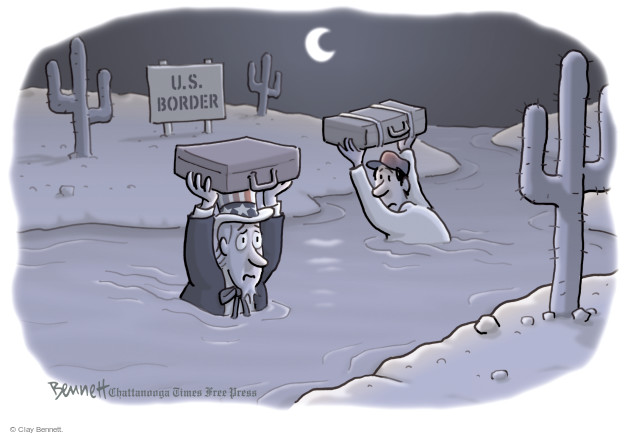Clay Bennett  Clay Bennett's Editorial Cartoons 2016-11-18 immigrant