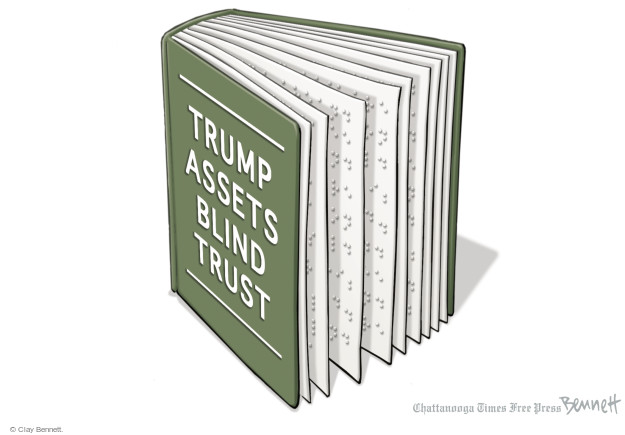 Clay Bennett  Clay Bennett's Editorial Cartoons 2016-11-21 conflict of interest