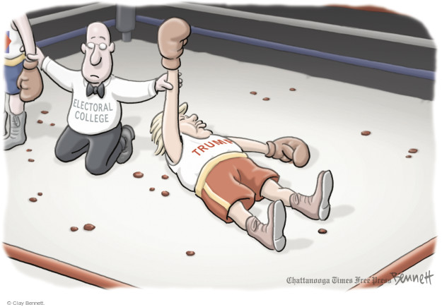 Clay Bennett  Clay Bennett's Editorial Cartoons 2016-11-27 boxing