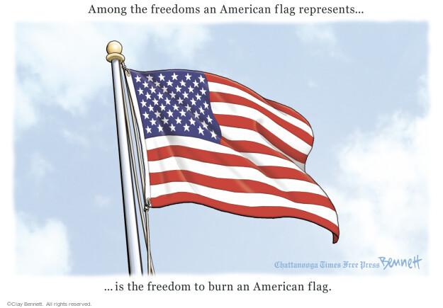 Cartoonist Clay Bennett  Clay Bennett's Editorial Cartoons 2016-11-30 American flag
