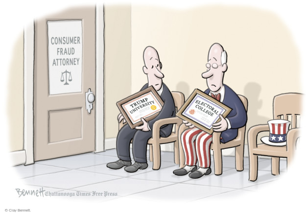 Cartoonist Clay Bennett  Clay Bennett's Editorial Cartoons 2016-12-02 college