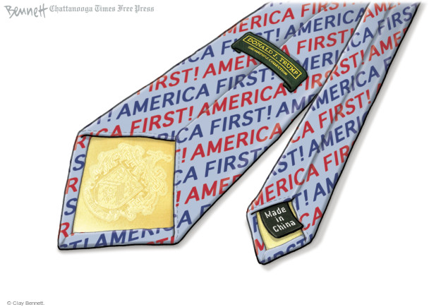 Clay Bennett  Clay Bennett's Editorial Cartoons 2016-12-07 China trade
