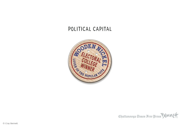 Clay Bennett  Clay Bennett's Editorial Cartoons 2016-12-19 presidential election