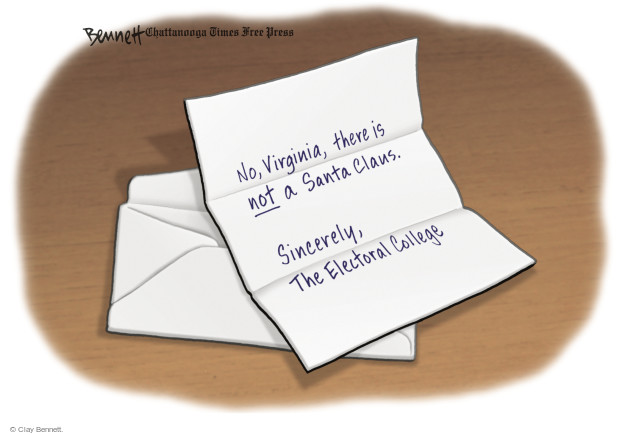 Cartoonist Clay Bennett  Clay Bennett's Editorial Cartoons 2016-12-20 letter