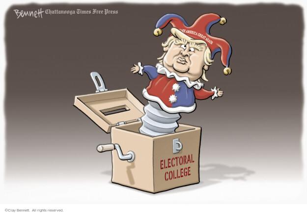 Cartoonist Clay Bennett  Clay Bennett's Editorial Cartoons 2016-12-21 college