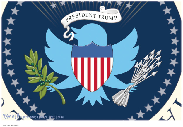 Clay Bennett  Clay Bennett's Editorial Cartoons 2016-12-27 social media politics
