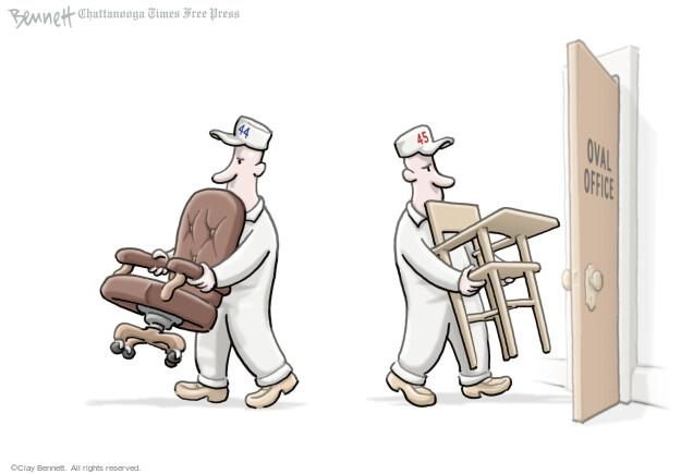 Cartoonist Clay Bennett  Clay Bennett's Editorial Cartoons 2017-01-04 Obama republicans