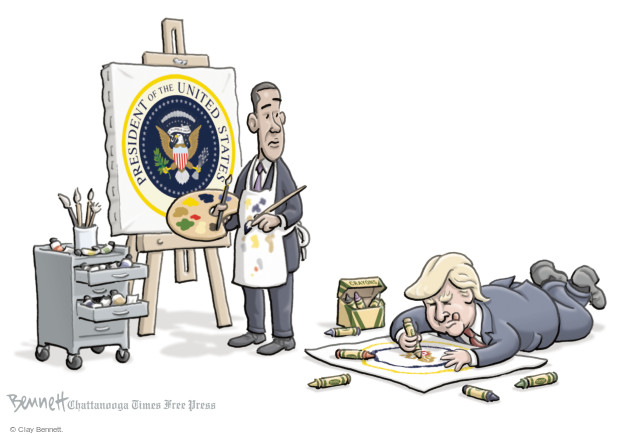 President of the United States. Crayons.