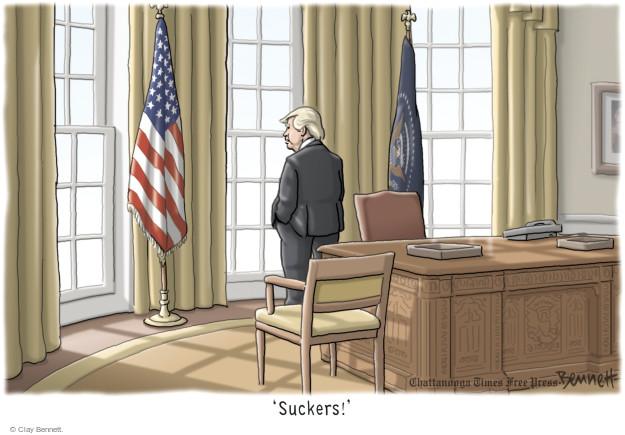 Clay Bennett  Clay Bennett's Editorial Cartoons 2017-01-23 Donald
