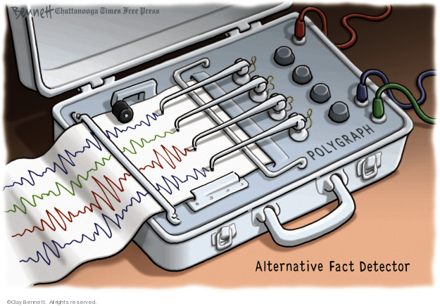 Cartoonist Clay Bennett  Clay Bennett's Editorial Cartoons 2017-01-24 lie detector