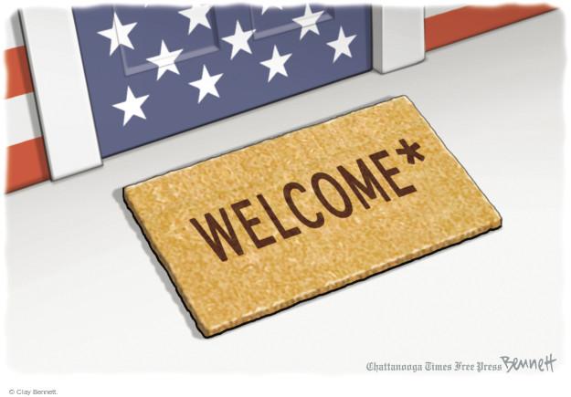 Clay Bennett  Clay Bennett's Editorial Cartoons 2017-01-31 Homeland Security