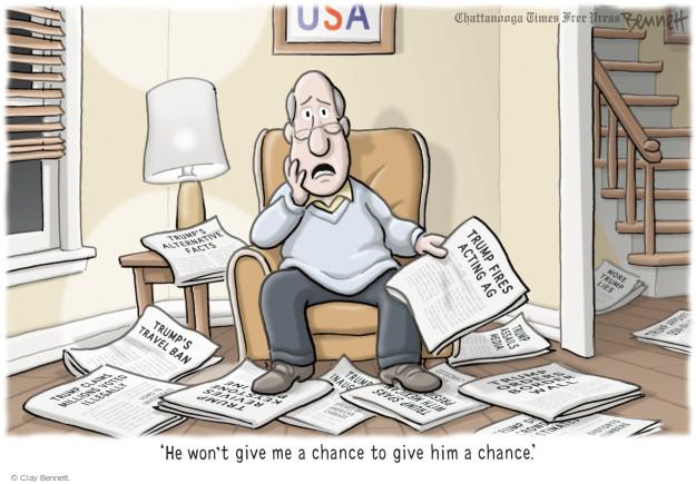 Cartoonist Clay Bennett  Clay Bennett's Editorial Cartoons 2017-02-01 lie