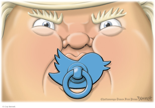 Clay Bennett  Clay Bennett's Editorial Cartoons 2017-02-06 social media politics