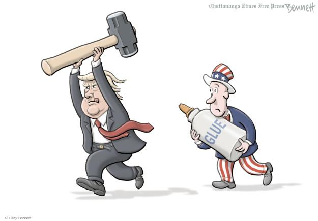 Clay Bennett  Clay Bennett's Editorial Cartoons 2017-02-13 Donald