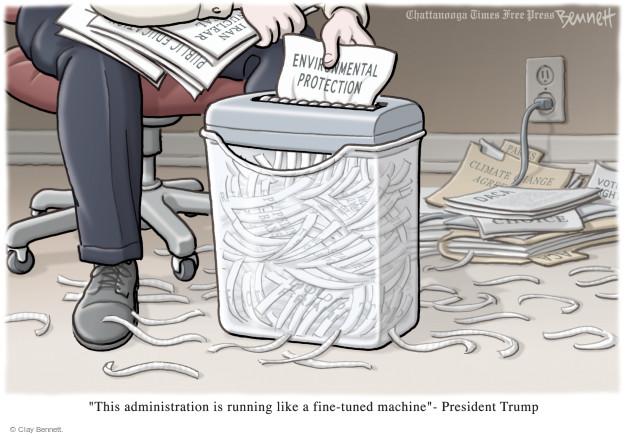 Clay Bennett  Clay Bennett's Editorial Cartoons 2017-02-20 Donald