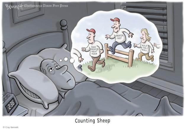 Cartoonist Clay Bennett  Clay Bennett's Editorial Cartoons 2017-02-27 Trump voter