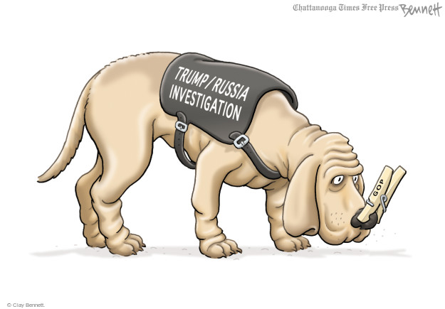 Cartoonist Clay Bennett  Clay Bennett's Editorial Cartoons 2017-02-28 congressional investigation