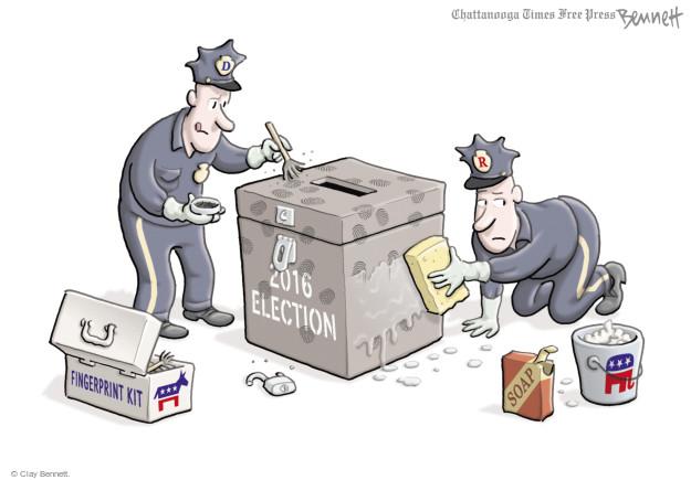 Cartoonist Clay Bennett  Clay Bennett's Editorial Cartoons 2017-03-03 Republican voter