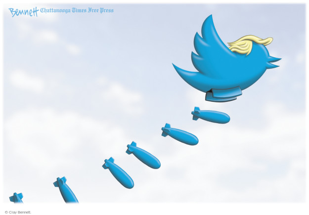 Clay Bennett  Clay Bennett's Editorial Cartoons 2017-03-13 social media politics