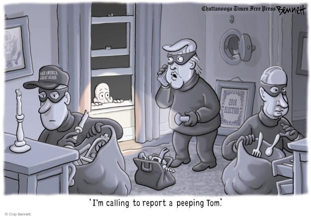 Clay Bennett  Clay Bennett's Editorial Cartoons 2017-04-06 Donald Trump Vladimir Putin