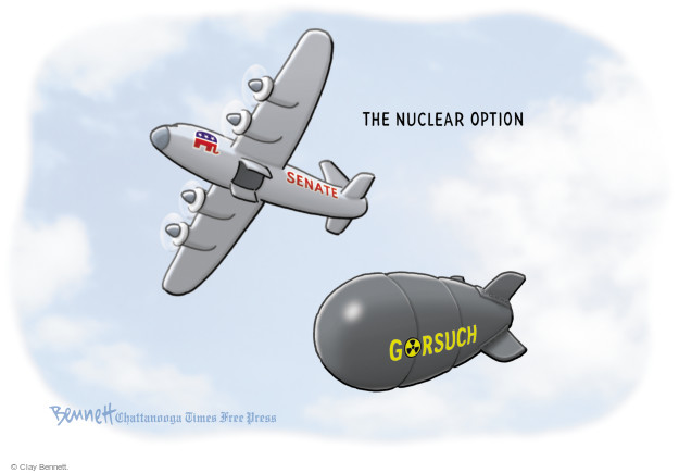 Cartoonist Clay Bennett  Clay Bennett's Editorial Cartoons 2017-04-07 nuclear