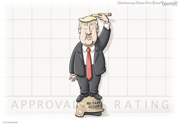 Cartoonist Clay Bennett  Clay Bennett's Editorial Cartoons 2017-04-12 weapon