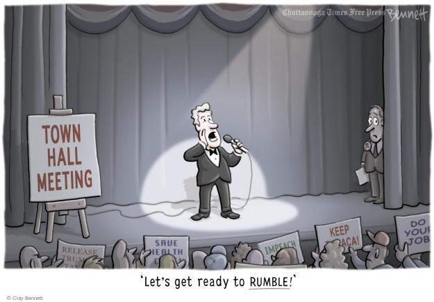 Cartoonist Clay Bennett  Clay Bennett's Editorial Cartoons 2017-04-19 impeach