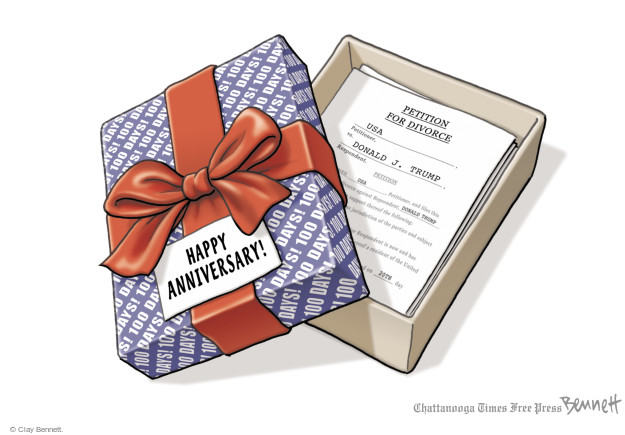 Cartoonist Clay Bennett  Clay Bennett's Editorial Cartoons 2017-04-28 office