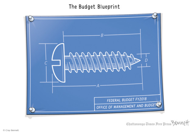 Clay Bennett  Clay Bennett's Editorial Cartoons 2017-05-23 federal budget