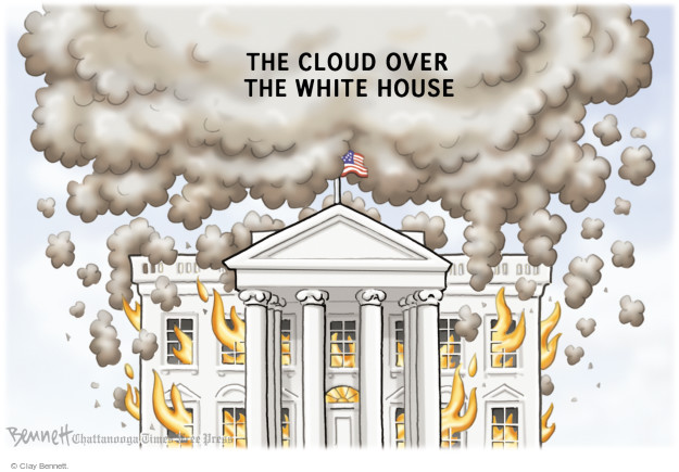 The cloud over the White House.