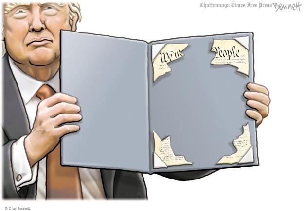 Cartoonist Clay Bennett  Clay Bennett's Editorial Cartoons 2017-06-13 Constitution