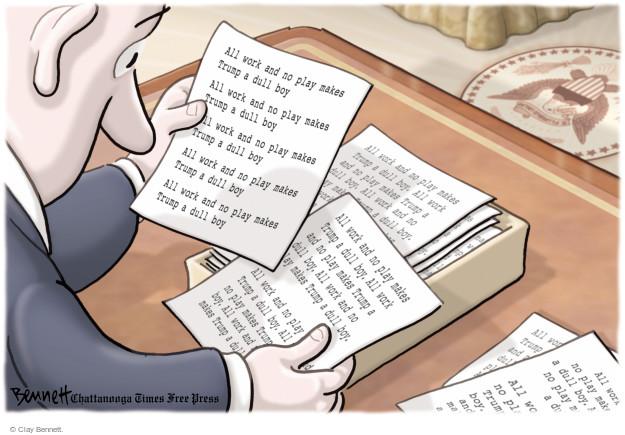 Cartoonist Clay Bennett  Clay Bennett's Editorial Cartoons 2017-07-03 office