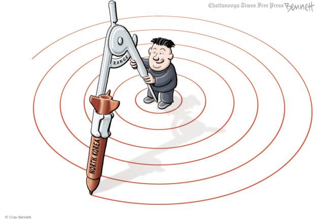 Cartoonist Clay Bennett  Clay Bennett's Editorial Cartoons 2017-07-06 Korea
