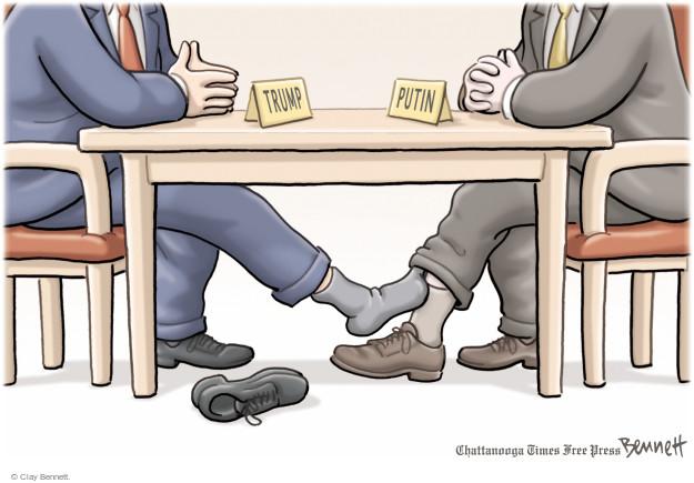 Cartoonist Clay Bennett  Clay Bennett's Editorial Cartoons 2017-07-07 Donald Trump Vladimir Putin