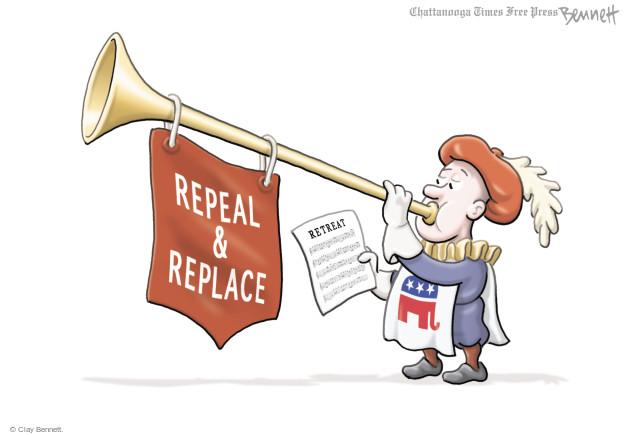Clay Bennett  Clay Bennett's Editorial Cartoons 2017-07-19 health care