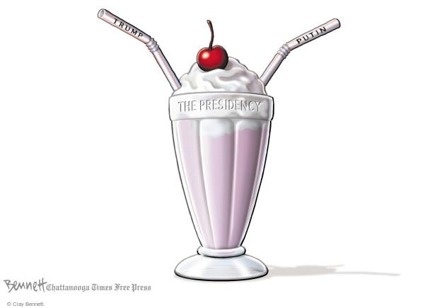 Cartoonist Clay Bennett  Clay Bennett's Editorial Cartoons 2017-07-21 Donald Trump Vladimir Putin