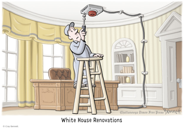 Cartoonist Clay Bennett  Clay Bennett's Editorial Cartoons 2017-08-10 office