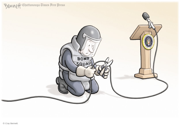 Cartoonist Clay Bennett  Clay Bennett's Editorial Cartoons 2017-08-11 weapon