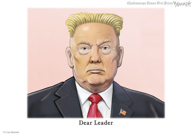 Cartoonist Clay Bennett  Clay Bennett's Editorial Cartoons 2017-08-14 weapon