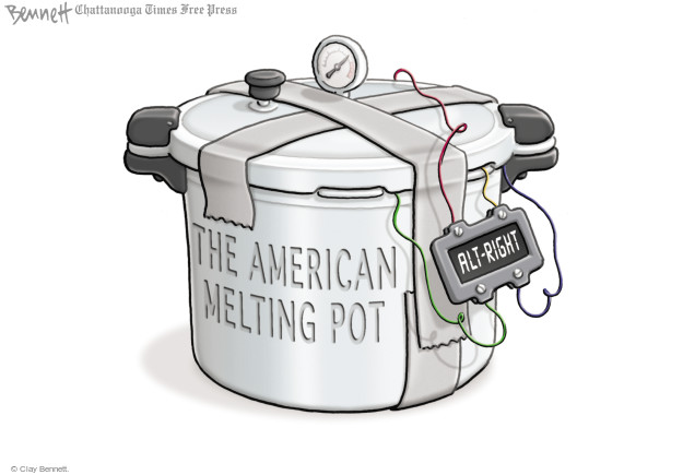 Cartoonist Clay Bennett  Clay Bennett's Editorial Cartoons 2017-08-15 racial