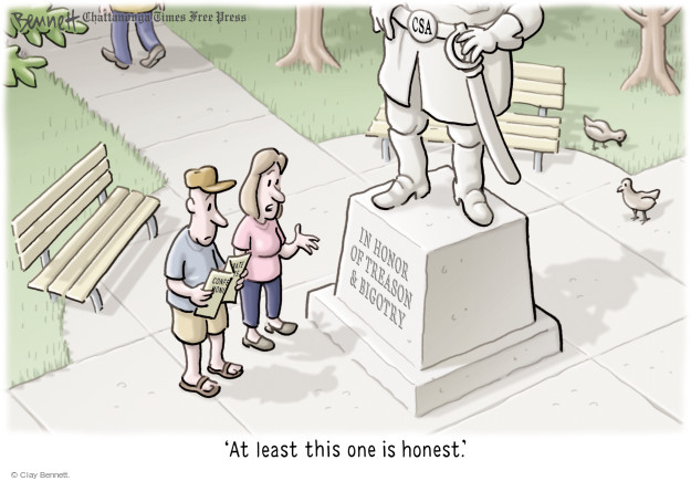 Cartoonist Clay Bennett  Clay Bennett's Editorial Cartoons 2017-08-16 racial