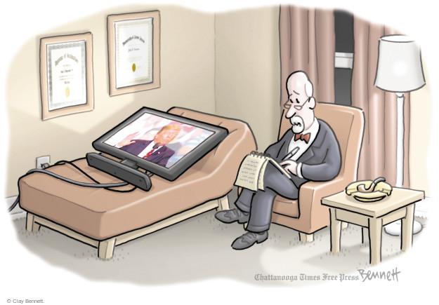 Cartoonist Clay Bennett  Clay Bennett's Editorial Cartoons 2017-08-25 illness
