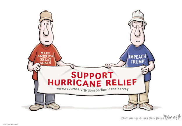 Cartoonist Clay Bennett  Clay Bennett's Editorial Cartoons 2017-08-29 Texas